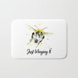 Just Winging It - Punny Bee Bath Mat