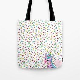 Rainbow the Unicorn Starstruck Tote Bag