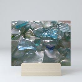 Ocean Hue Sea Glass Assortment Mini Art Print