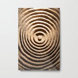 Abstract Wood Art Metal Print