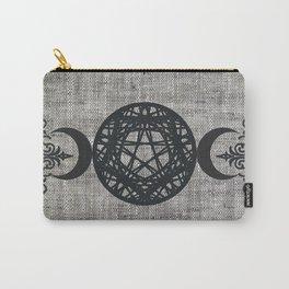 Black Magic Triple Moon Pentagram Star Carry-All Pouch