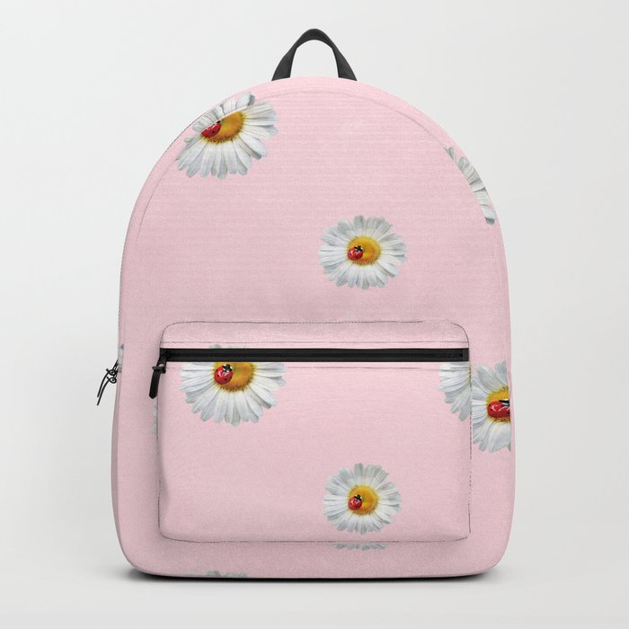 Flower Flowers Daisies in love- pink floral pattern Backpack