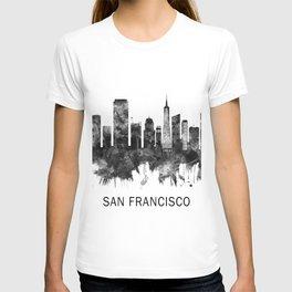 San Francisco California Skyline BW T-shirt