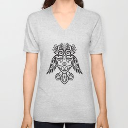 Forest Owl Unisex V-Neck