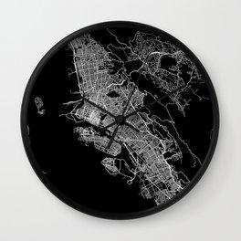 oakland map california Wall Clock