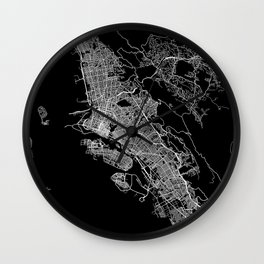 oakland map california Wall Clock