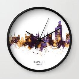 Karachi Pakistan Skyline Wall Clock