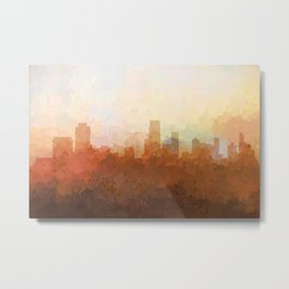 Newark, New Jersey Skyline - In the Clouds Metal Print