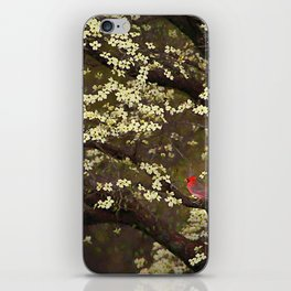 The Dogwoods and the Cardinal iPhone Skin