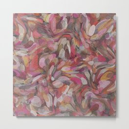 Pink Bubble Painting Metal Print