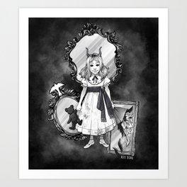 Mirror Ghost Art Print