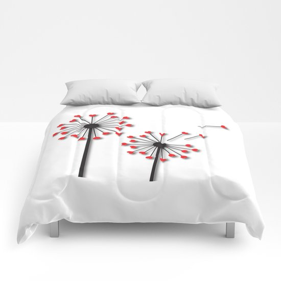 Dandelion Hearts Comforters