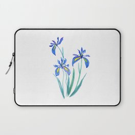blue iris watercolor Laptop Sleeve