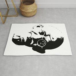 Mahatma Gandhi Minimalistic Pop Art Rug