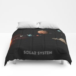 Solar System w/ Faces Comforters