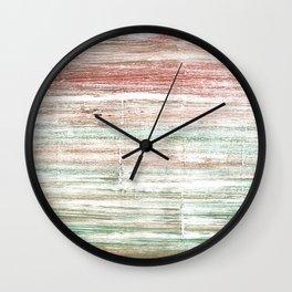 Grullo abstract watercolor Wall Clock