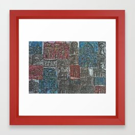 BuildingCollage  Framed Art Print