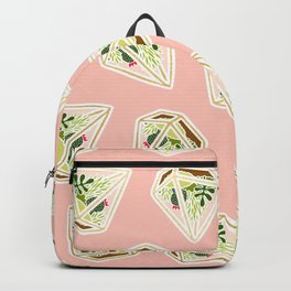 Terrarium Pattern Pastel Pink and Gold Backpack