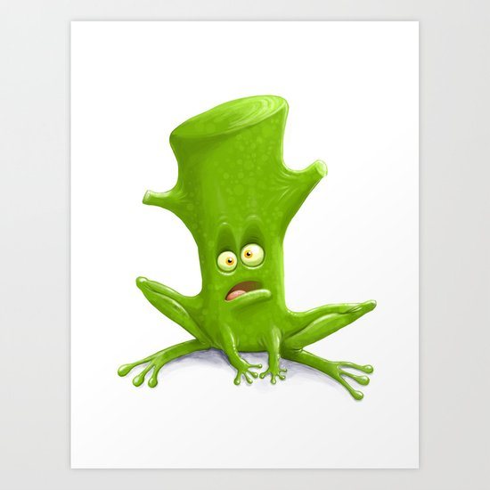 Log in a Frog Art Print