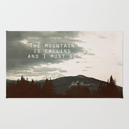 The Mountain is Calling Rug