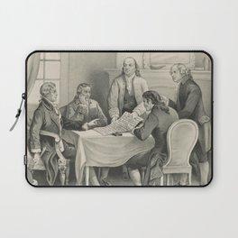Vintage Illustration of the Declaration Committee Laptop Sleeve