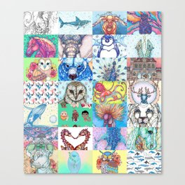 Kate Fitzpatrick Illustrations Collected Works Canvas Print