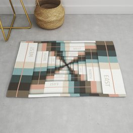 Layers of Directions Rug