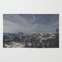 the mountains are calling Area & Throw Rugs featuring The mountains are calling by UtArt