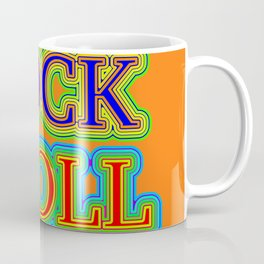 Neon Style Rock and Roll Coffee Mug