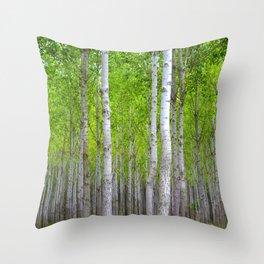 white woods Throw Pillow