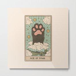 Ace of Paws Metal Print
