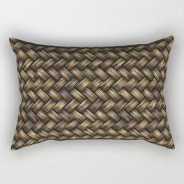 Natural Blended Weave Rectangular Pillow