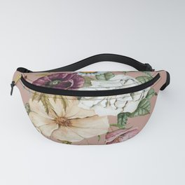 Colorful Wildflower Bouquet on Pink Fanny Pack