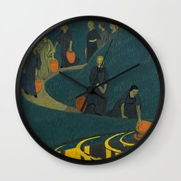 The Danaides or Women at the Source of Life and Water by Paul Serusier Wall Clock