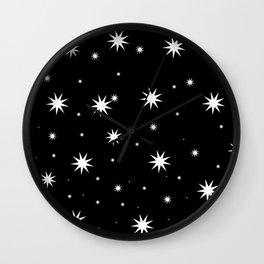 Starry Stars Wall Clock