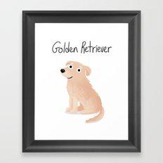 Golden Retriever - Cute Dog Series Framed Art Print