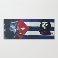 che Canvas Prints featuring Che by florinaeu