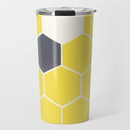 Yellow Honeycomb Travel Mug