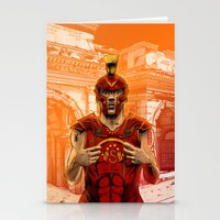 gladiator Stationery Cards featuring German Gladiator Podolski by Akyanyme