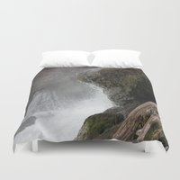 lip Duvet Covers featuring The Lip by Jeffrey J. Irwin