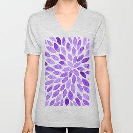 Watercolor brush strokes - ultra violet Unisex V-Neck