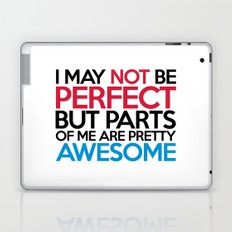 Not Be Perfect Funny Quote Laptop & iPad Skin