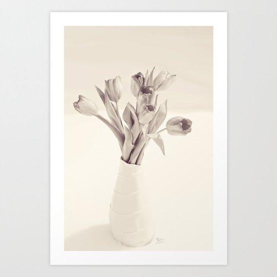Tulips Toned Art Print