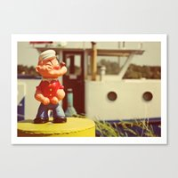 popeye Canvas Prints featuring Popeye by Teodoru Badiu