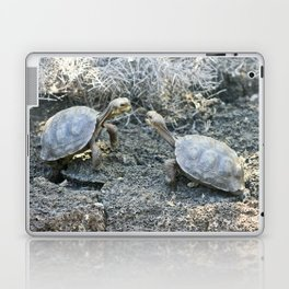 Baby giant tortoises acting tough Laptop & iPad Skin
