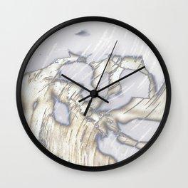 Birch Bark Silver Wall Clock