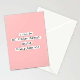 I Can Do All Things Typewriter Stationery Cards