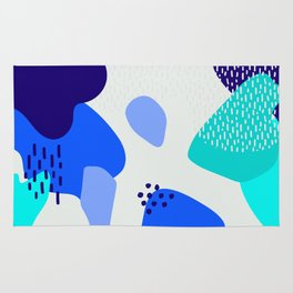 Blue abstract pattern Rug