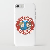 stucky iPhone & iPod Cases featuring Starbucks - Steve Rogers and Bucky Barnes Iced Coffee  by BlacksSideshow