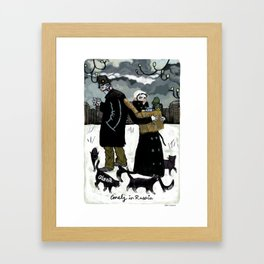 Alena – Lonely in Russia Framed Art Print